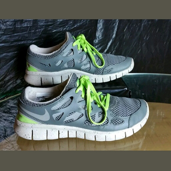Nike Free Run + 2 Women's Size 8 Mercury Grey/Flash Lime/Mortar/ Grey 536746009
